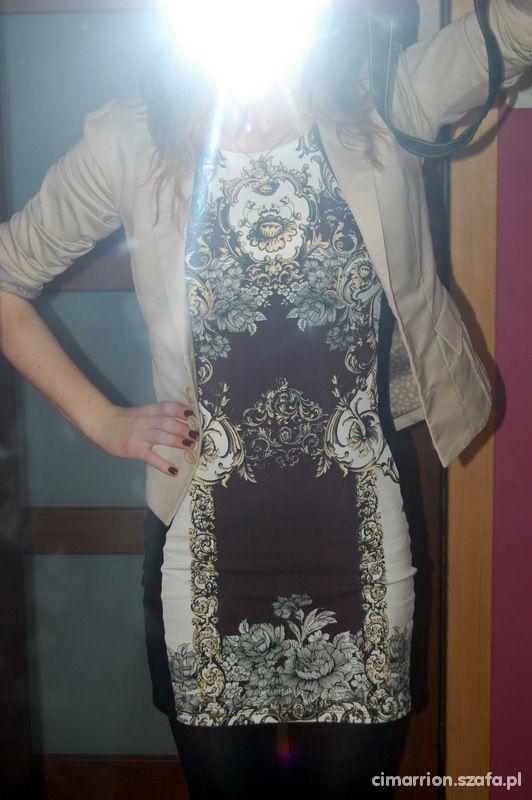 Eleganckie Barokowa sukienka