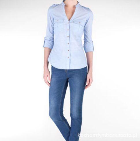 Niebieska koszula stradivarius