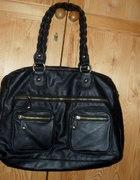 CROPP czarna świetna torba A4