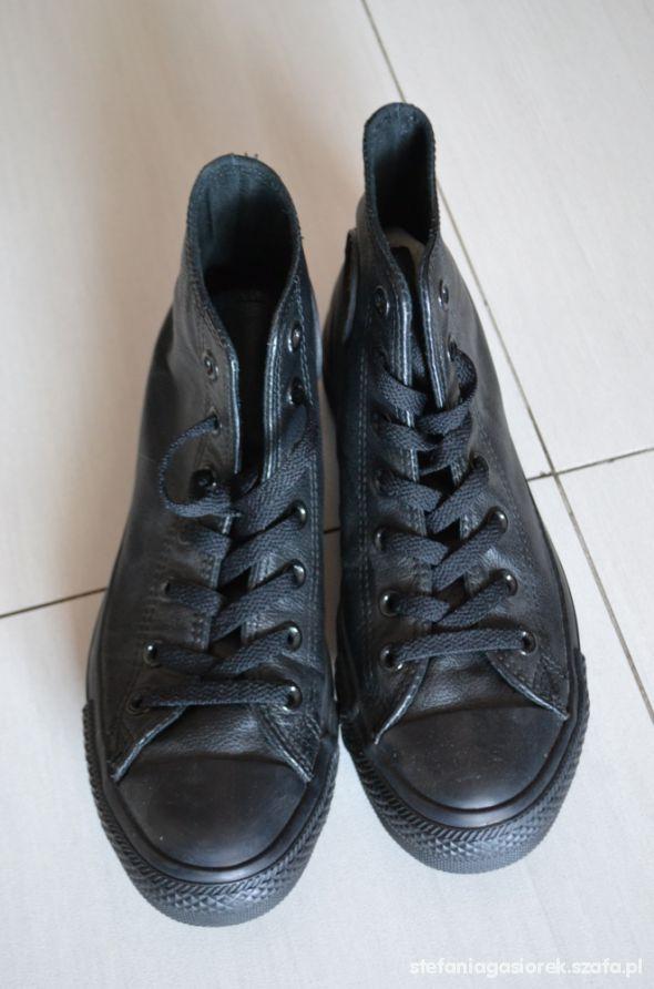 Converse czarne skórzane rozmiar 39 w Trampki Szafa.pl