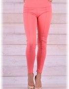 Koralowe legginsy