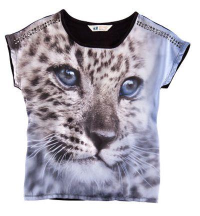 hm bluzka z motywem zwierzęcym
