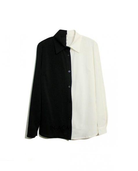 Ubrania Koszula pół na pół czarno biała