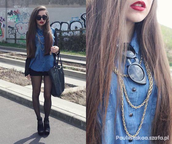 czerń i jeans