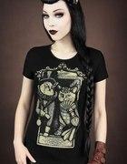 Tshirt Restyle koty vintage emo rock gothic...