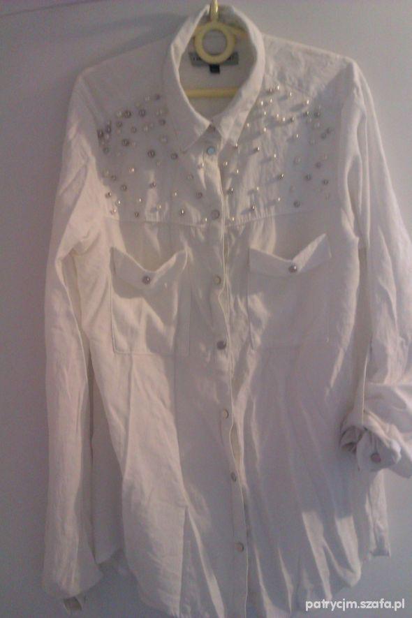 koszula BERSHKA z perełkami S