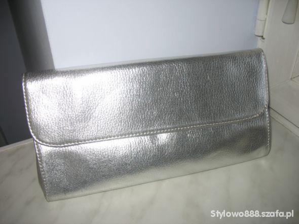 Torebka kopertówka na długim pasku Srebrny wąż | Paski i Torebki