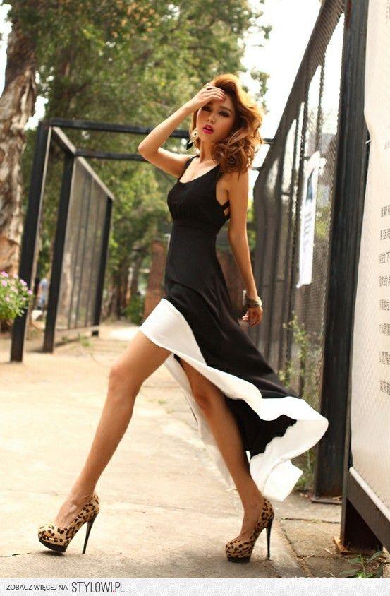 Eleganckie Bardzo elegancka i nowoczesna sukienka