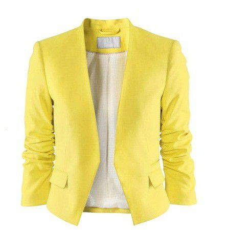 H&M cytrynowa marynarka żółta