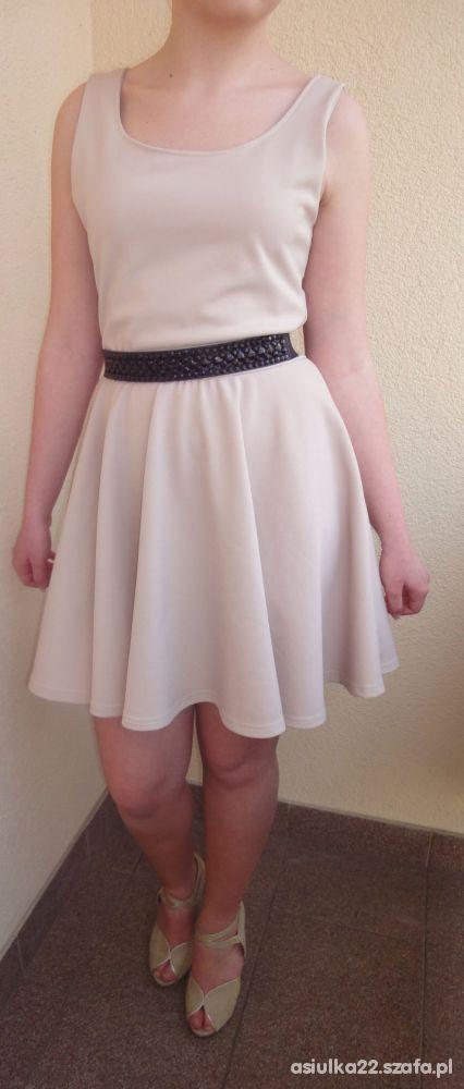 Eleganckie Beżowa sukienka z SH