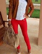 czerwone rurki red skinny