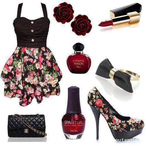 kwiaty i czerwien
