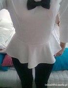Baskinka biała z muszką XXS XS