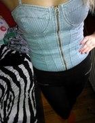 Gorset jeansowy zip