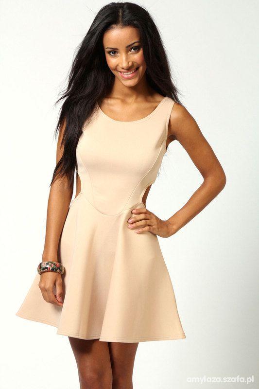 Eleganckie sukienka beżowa