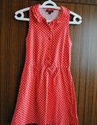 Tuniko sukienka TOPSHOP retro grochy