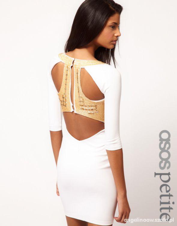 sukienka asos petite zdobiona plecy wycięcia
