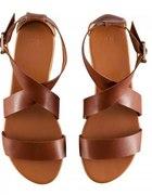 Sandałki brązowe H&M