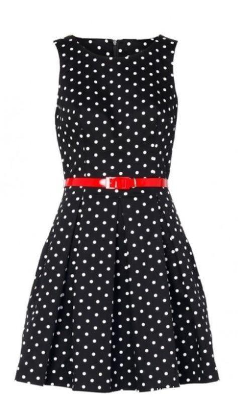 Sukienka w groszki MOHITO