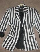 Marynarka w biało czarne pasy paski H&M