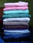Pudrowe miętowe bordowe spodnie