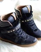 ZARA sneakers trampki na koturnie ćwieki mojeeeeee