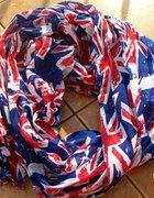Apaszka chusta szalik USA Brytania flaga DIY komin...