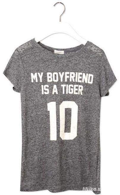 pull&bear thirt nadruk my boyfriend is a tiger