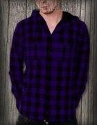 Koszula fioletowa w kratę Glovestar...