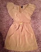 sukienka cynamonowa H&M