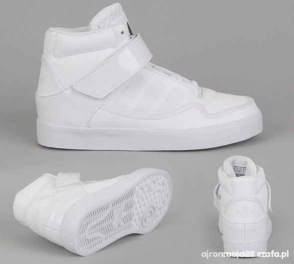 buty adidas za kostke dla chlopaka biale