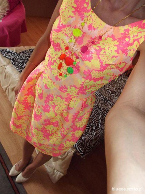 Mój styl Neon fluo sukienka