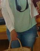 mieta jeans czerń biel i beż...