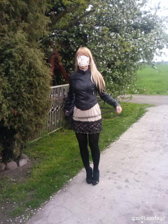 Mój styl JA beżowo i czarno klasyka 12 05 2013