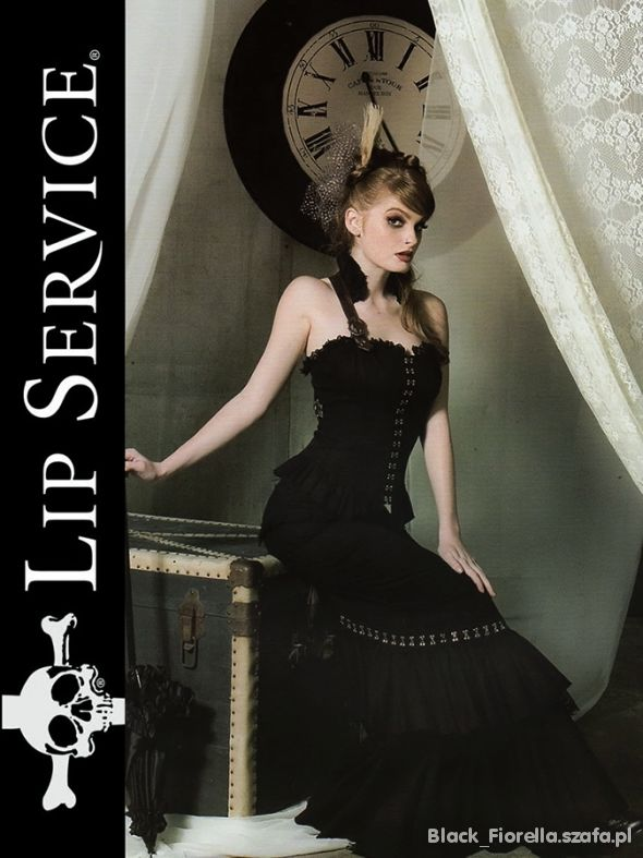 LIP SERVICE Step in Time czarna spódnica syrena