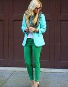 Niebiesko zielonowiosennie...