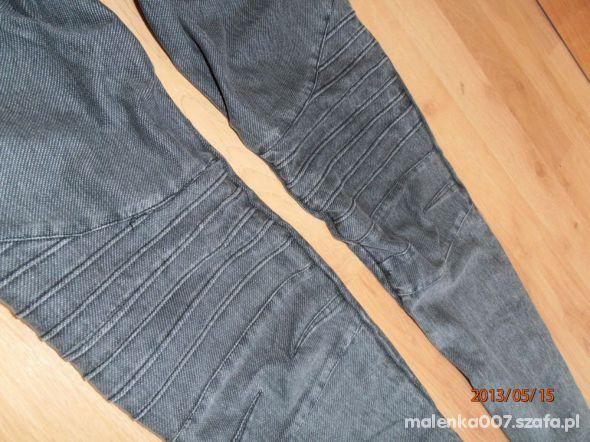 Szare legginsy tregginsy z przeszyciami M L 38 40