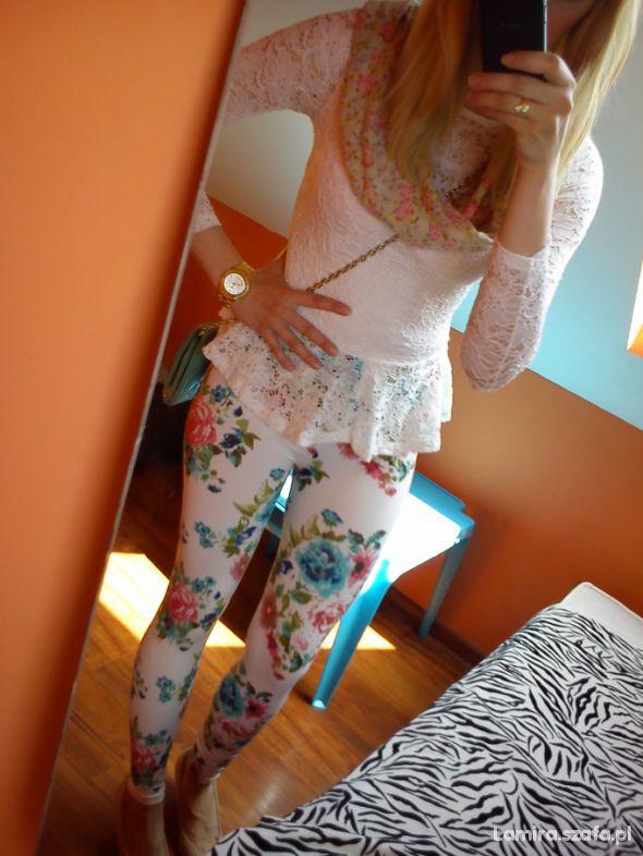 legginsy floral