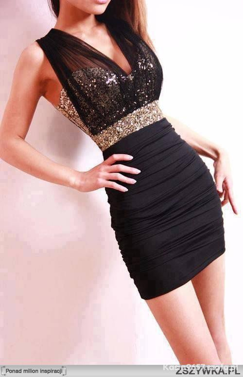 Czarno złota sukienka