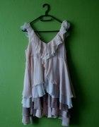 Sukienka falbany H&M
