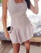 Wrzosowa sukieneczka vintage