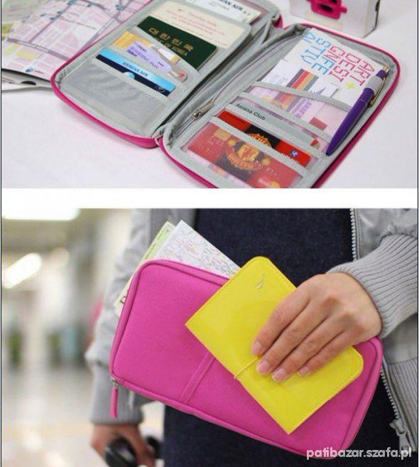 Organizer paszportówka duży portfel
