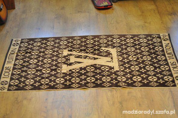 Chusty i apaszki Ręcznik duży kapielowy Louis Vuitton dwustronny