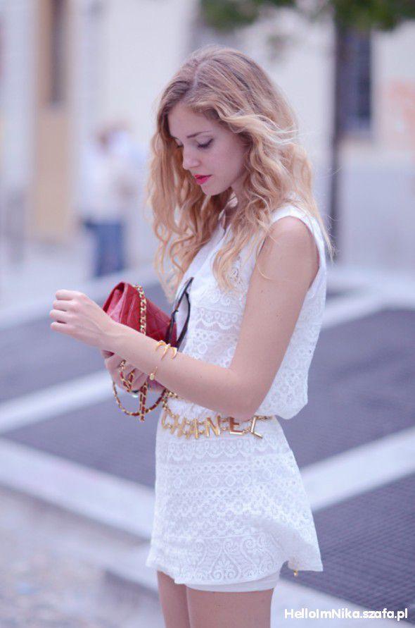 Wasze inspiracje biała sukienka i chanelka