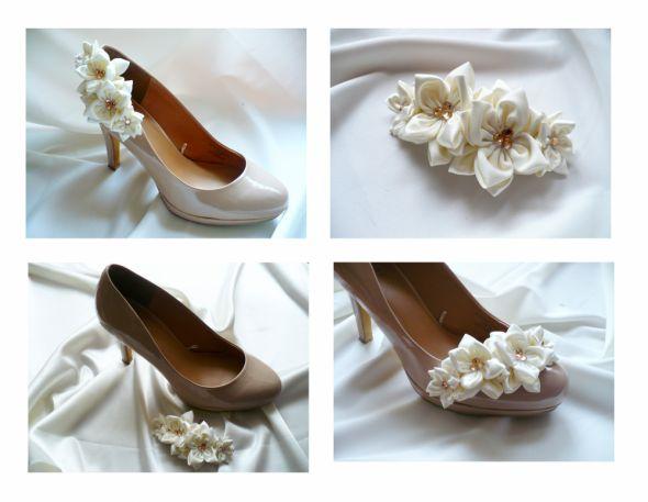 Ślubne spinki do obuwia