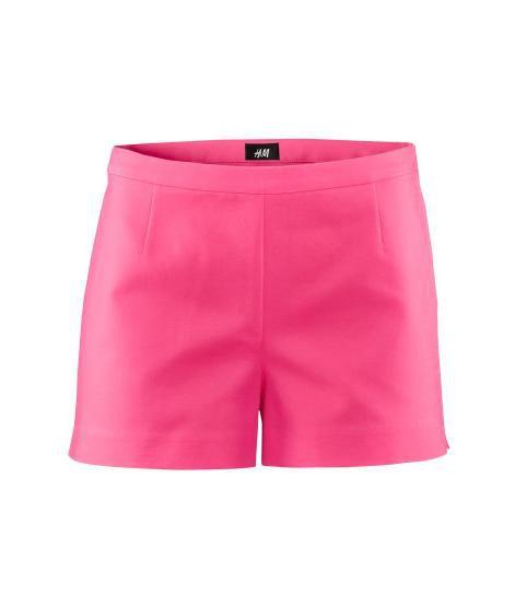 Szorty H&M spodenki różowe wysoki stan...