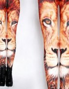 LION tiger legginsy pomarańcz S M L