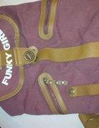 Bordowy plecak