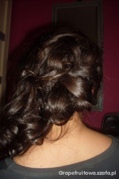 Przeplataniec fryzura wieczorowa