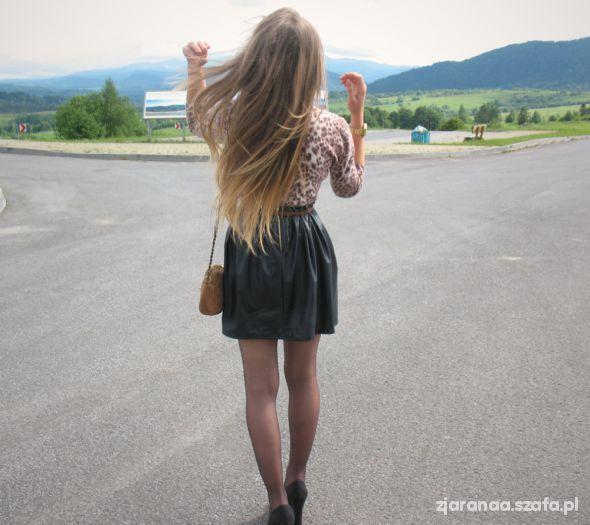 Blogerek Leopard black & caramel